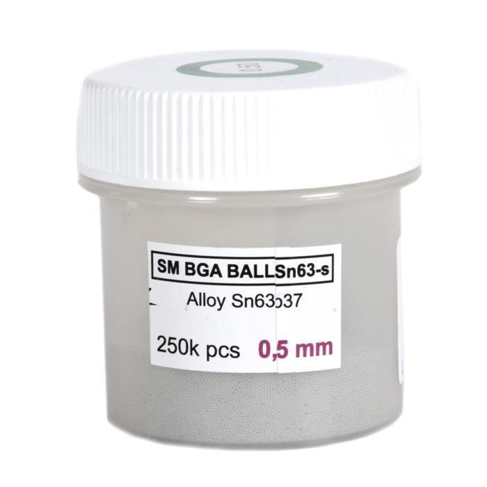 Solder balls for BGA 0.5mm 250k, Leaded<br><br>Aliexpress