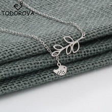 Buy Todorova Charm Lovely Bird Branch Lariat Necklace Choker Necklace Statement Jewelry Female Clavicle Chain Women Gift for $2.54 in AliExpress store