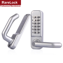 LHX Waterproof Stain Nickel Security Lever Handle Mechanical Password Combination Yard Door Lock a