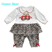 Buy Humor Bear Christmas Baby girls clothing Rompers newborn gentleman style casual clothing long-sleeved clothes for $6.93 in AliExpress store