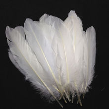 FREE SHIPING Wholesale 100pcs White Goose Feathers Decoration 6-8inches / About 15-20cm Craft(China)
