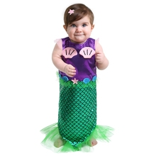 Perfectly Comfortable And Extremely Photogenic Tiny Baby Infant Mermaid Costume Great For Pool Party Or Oceanic Photo Shoot(China)