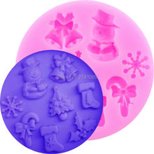 Snowman Snowflake Christmas tree Silicone mold for Cake, soap,Fondant Cake Decorating,Candy, Chocolate, Jelly DIY Bakware M070