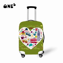 Fashion World/City/Christmas/ Design Luggage Covers 22/24/26 Elastic Travel Suitcase Trolley Dustproof Protector Cover