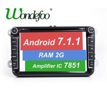Android 7.1 RAM 2G 16G 7851 CAR DVD PLAYER For Seat Altea Leon Toledo VW Passat POLO golf 5 6 touran passat B6 sharan SKODA gps(China)