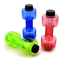 550ml Creative Personalized Dumbbell Fitness Equipment Seal Leak Proof Plastic Cup Fruit Juice Bottle Sport Water Bottle
