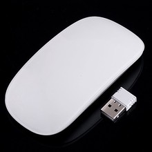 Ultra Thin 2.4G Wireless RF Mouse Magic Multi-touch Scroll Mice Wheel & Receiver for Laptop Desktop PC 5pcs/lot free shipping