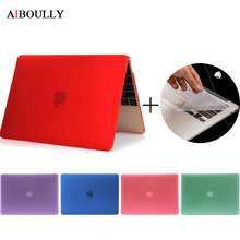 AIBOULLY Crystal/Frosted Hard Shell Case for Macbook Air 11 12 inch Pro Retina 13'' 15'' Touch Bar + Universal Keyboard Cover