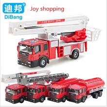 Children 's puzzle 1:64 alloy car sliding fire truck model toy car hot toys