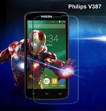 For Philips Xenium V387 Tempered Glass Original 9H Protective Glass Film Explosion-proof Screen Protector for Philips V387(China)
