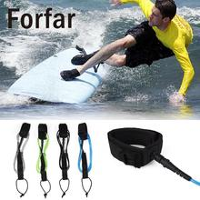 Forfar Surfboard Leash Stand UP TPU Surfing Paddle Board Straight Foot Rope 6ft 5.5mm