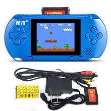 2.5 inch Handheld Game Player Built-in 300 Classic Retro Games wwith Game Card AV Cable Support TV-out/ External handle 2 Player(China)