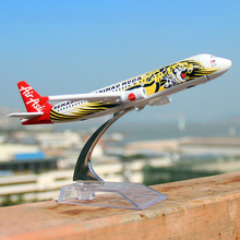 16cm Tiger A320 Airlines Diecast Plane Model Airbus Airplane Model for gifts(China)