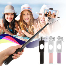 Mini Portable Monopod Selfie Stick For Iphone Samsung Android IOS Luxury Handheld Extendable Wired Palo Self Sticks High Quality