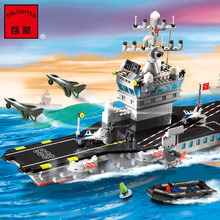 2017 New Model Building Kits Compatible Lepin City Military Aircraft Carrier 778 3D Blocks Educational Toys Hobbies For Children