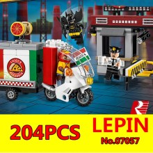 Scarecrow Pizza Delivery Car Set LEPIN 07057 Genuine Batman Movie Series 70910 Building Blocks Bricks Educational Children Toys(China)