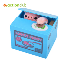 Actionclub Adorable Mischief Saving Box Cartoon Piggy Bank For Children Gift Dog Monkey Mouse Steal Coin Bank Money Box Home Dec