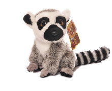 Free Shipping 18CM Simulation Lemur Stuffed Animal Toys Cute Monkey Plush Toys Baby Toys Christmas Gifts(China)
