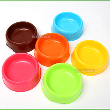 Sugar Color Durable Lovely Pet Plastic Bowl Feeding Basin Bowls Dish For Small Dog Puppy Cat Feeders(China)