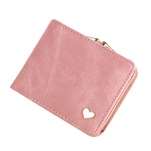 Solid Gold Heart Clutch Wallet Multi Function Change Purses Large Capacity Zipper Women Wallets Cute Card Hold Money Bag(China)