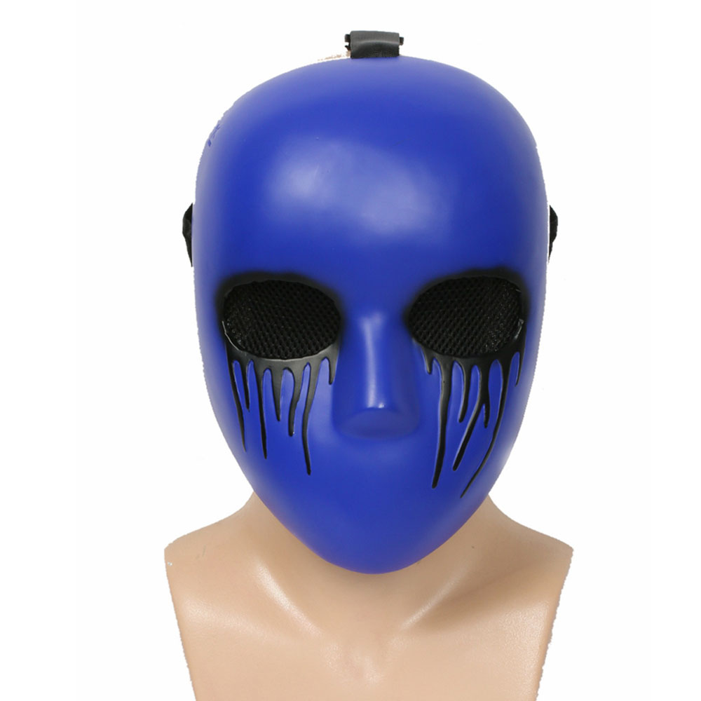 Eyeless Jack Dark Blue Mask Cosplay Props Resin Full Face Mask Holiday Halloween Festival Christmas Cosplay Party Masks Gift