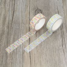 Soft Color Neon Line Stripe New Style Washi Paper Masking Tapes DIY Decorative Stickers Gift Wrapping Sticker Party Favor(China)