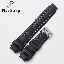 Black Men Sport Watch band for Casio G-shock GW-4000 Watches Replacement Wristband Women Rubber Strap Stainless Steel Buckle(China)