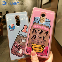 Drink bottle quicksand Case For Xiaomi Redmi Note 4X 4 X 32gb 64gb Case liquid Glitter Flamingo Cover For IPhone X RedMi 4X Case(China)