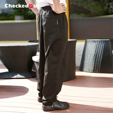 Top quality Cook pants work pants checkedout chef pants  unisex chef trousers