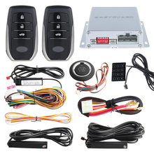Quality PKE Car Alarm System auto passive keyless entry kit push button start, remote engine start stop, Touch password keypad