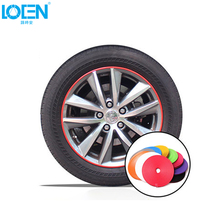 8M 10 Color Car Wheel Hub Tire Sticker Decal Car Decorative Strip Wheel Rim Protection Care Covers for VW golf Opel Toyota Mazda(China)