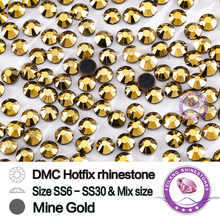 DMC Hotfix Crystals Rhinestone  SS20 Mine Gold 10 Gross/bag CPAM Free Brides Stones Garment Accessories Wholesale