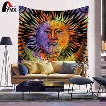 Wholesale Rainbow Sunshine Face Tapestry 150*130/200CM Rainbow Hippie Wall Posters Bohostyle Roomdecor Home Textile Tapiz Pared