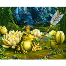 Full 3d square diamond mosaic icon diamond embroidery Frog prince Diamond painting picture with rhinestones diamonds handcraft(China)