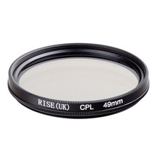 RISE(UK) 49MM CPL PL-CIR Polarizing Filter for DLSR 49mm lens free shipping(China)