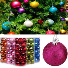 30mm Christmas Xmas Tree Ball Bauble Hanging Party Wedding Ornament Holiday Festival DIY Decoration(China)
