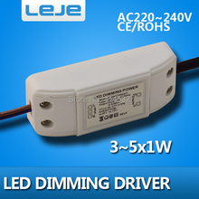 Dimmable LED Driver dimming LED  lighting transformer 3w 4w 5w  led bulb light downlight lamp spotlight driver