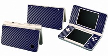 Blue Carbon Fiber Vinyl Skin Sticker Protector for Nintendo DSI XL LL for NDSI XL LL skins Stickers