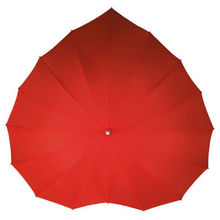 Red Heart Shaped Umbrella 16k Wind Break Sun / Rain Parasol Wedding Party Umbrella Party Supplies