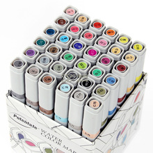 Free shipping double head water Marker pen 12/24/36/48/84 color hand-painted interior architectural clothing design art marker(China)