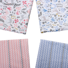 TIANXINYUE Sika Deer Cotton Fabric flower meter Fabric Home Textile Quilting Tilda For Bedding Craft Patchwork fabric Needlework(China)
