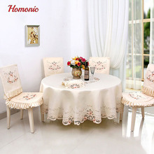 manufacturer dropshipping farmhouse hand embroidered tablecloth impresion floral tela manteles mesa redonda furniture cover(China)