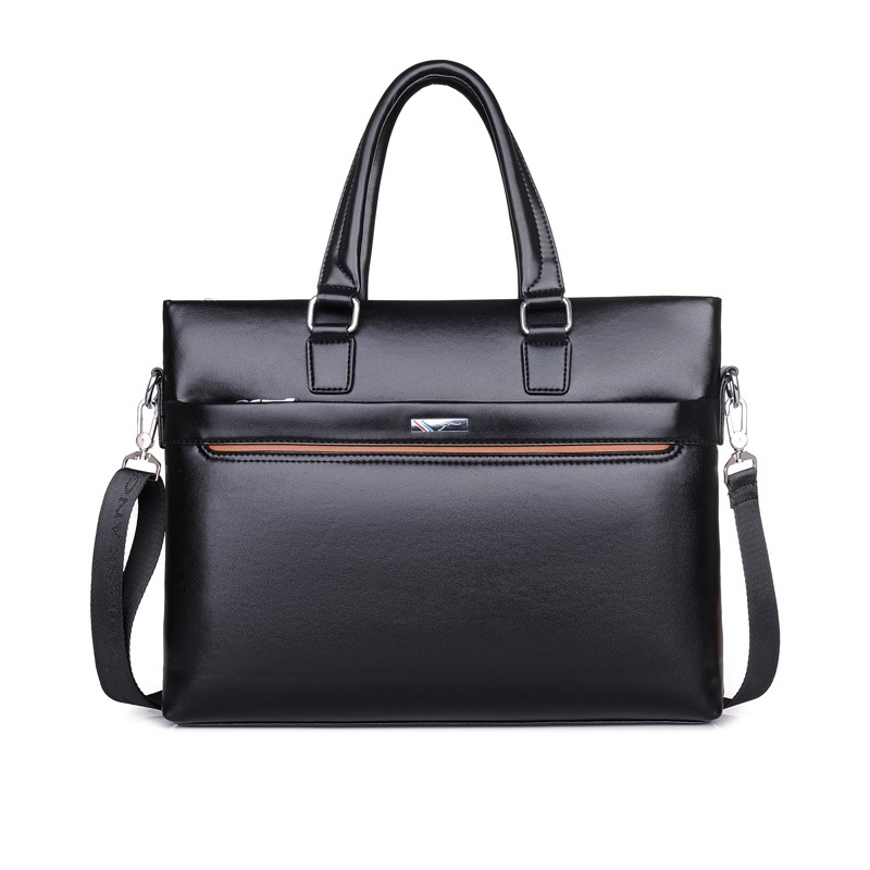 2018 Man Handbags PU Leather Business Casual Single Shoulder Bag Money Bag Messenger Bag Men File Briefcase Tote Item Organizer<br>