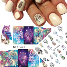 1 pcs Nail Sticker Retro Beauty Salon Owl Animal Full DIY Stamp for Polish Gel Decor Decals Nail Art Tools TRSTZ437/438