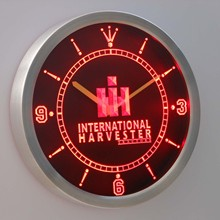 nc0169 International Harvester Tractor Neon Sign LED Wall Clock