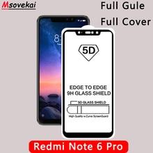 5D 6D 9D 9H Full Glue Full Coverage Tempered Glass Xiaomi Redmi Note 6 Pro Screen Protector Redmi Note6 Pro Protective Film