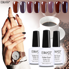 Elite99 New Arrival Coffee Brown Colors Series Gel Nail Polish Gorgeous Brown Color Series UV Gel LED Lamp Nail Art Design
