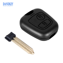 Dandkey Remote Key Shell Cover 2 Button  For Citroen Xsara Picasso Berlingo 2002 2003 2004 2005 2006 2007 2008 Case