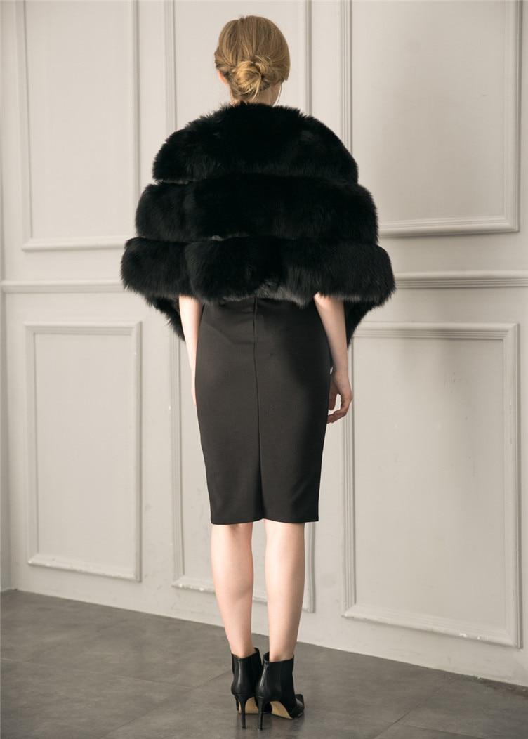 2018 Hcyo Korean version of the imitation of rabbit fur shawl imitation water mane fur grass cloak vest women's coat (5)