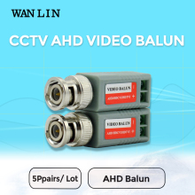 WANLIN 10pcs(5Pairs)  AHD/TVI/CVI CCTV Twisted BNC Passive Video Balun Transceiver COAX CAT5 Camera UTP Cable Coaxial Camera DVR